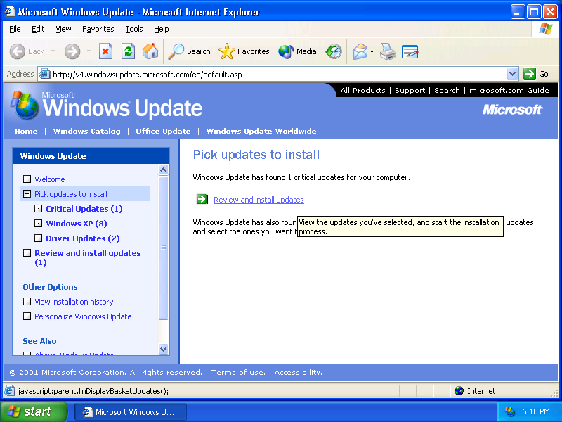 Actualizacion Windows XP
