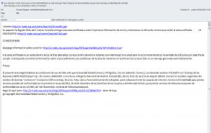Mail Ransomware Correos