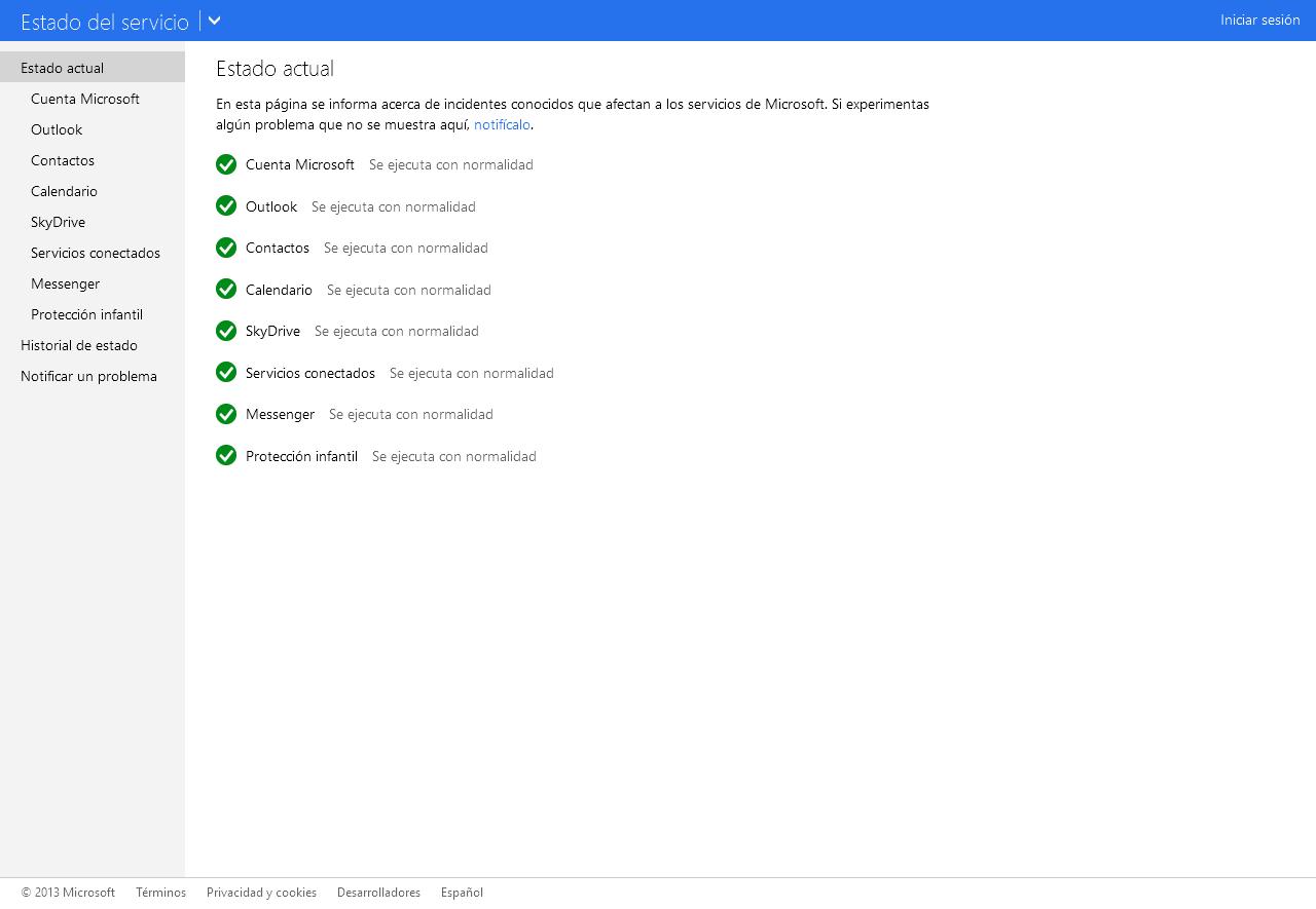 Estado del servicio - Servicios de Microsoft_20130819-172345